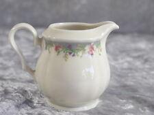 Seltmann Weiden Porzellan Marie Luise Milchkännchen klein Tee Blumen Band Grau