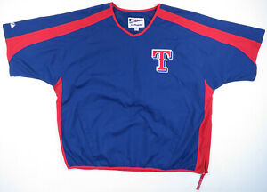 NWOT Texas Rangers Majestic Authentic Blue MLB Baseball Warm Up Pullover XXL