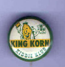 Vintage KING KORN Kiddie CLUB Premium  pinback CORN Cob CROWN