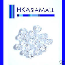 25 Swarovski Crystal Beads 5301 CRYSTAL CLEAR 5mm
