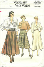 VOGUE 9169 Very Easy Sewing Pattern FLARED SKIRT 3 Lengths ~ Size 8 10 12
