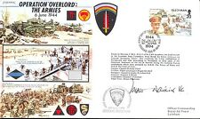JS50 44/4C wwii WW2 op overlord d-day raf fdc signée watkins vc
