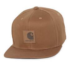 Cappello Carhartt Logo Cap Snapback Visiera piatta Hamilton Brown Marrone 31ddddc51bfa