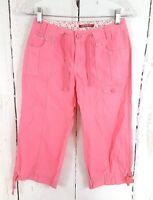 Girls Unionbay 10 Pink Cargo Pants Capri Woven 100% Cotton Cropped Drawstring
