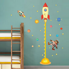 Space Rocket  Height Chart Measure kids room decals decor Wall sticker mural