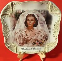 SCARLETT OHARA AND WHITE LACE PLATE GONE WITH THE WIND PEARLS AND PROMISES