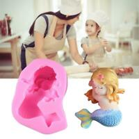 3D Mermaid Baby Silicone Mould Chocolate Fondant Cake Soap Paste Clay Resin Mold