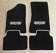 Autoteppich Fußmatten für Opel Manta B Coupe  CC GT/E schwarz weiss Neu 4teilig