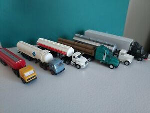 HO Scale 1:87 6 x trucks, 6 x trailers Various eras and vintage.