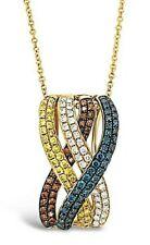 Le vian ® кулон с изображением желтый/синий/красный/белый бриллиантами набор в 14K мед золото ™