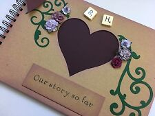 Personalised Couples Anniversary Scrapbook Memory Book Photo Album Gift