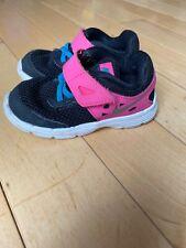 nike size 7c toddler girl shoes Black pink dual fussion lite Euc