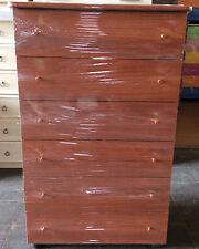 Settimino da camera bianco mobile cassettone melaminico colore ciliegio cm 75