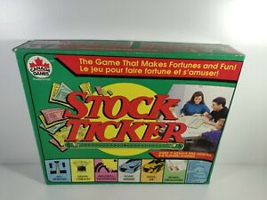 Stock Ticker Board Game Canada Games Missing 1 Game Die