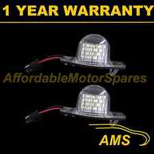 2X FOR HONDA INSIGHT JAZZ FIT WHITE LED NUMBER PLATE LIGHT LAMPS