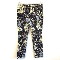 Worth New York Floral Courduroy Pants Size 6 Womens EUC Straight Leg