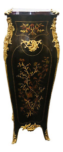 Louis XV Style Marquetry Pedestal