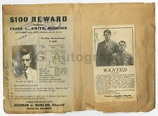 Wanted Notices - 3 Vintage Sheets - Murder - CO, NE, AR - 1912