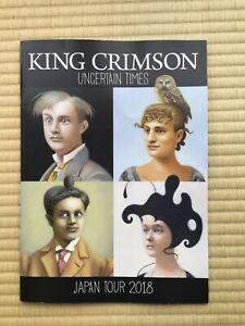 """""""King Crimson"""" Tourbook Uncertain Times Japan Tour 2018 Booklet"""