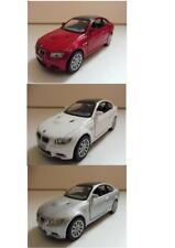 Lot 3 BMW M3 Coupé 2009 (Rouge, Blanc, Gris) KINSMART 1/36 Diecast NEUF