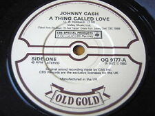 """JOHNNY CASH - A THING CALLED LOVE / ONE PIECE AT A TIME  7"""" OLD GOLD VINYL"""