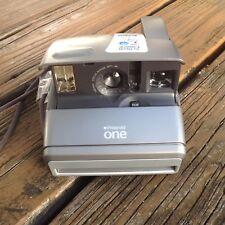 Vtg Polaroid One Flash Instant Camera Photograph 80s 90s Flash WORKS NEW Gray