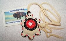 HAND MADE BEADED TURTLE FETISH RENDEZVOUS BLACK POWDER MOUNTAIN MAN 20