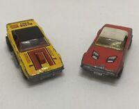 Matchbox Superfast No 1 Dodge Challenger Red & Dodge Challenger Yellow - 1975