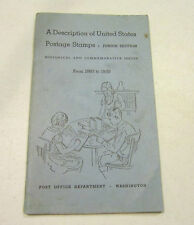 BOOK-A Description of United States Postage Stamps 1893-1939 -Junior Edition GC