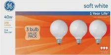 Ge Lighting 40 watts G25 Incandescent Bulb 370 lumens Soft White Globe 3 pk