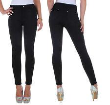 Damen Stretch Hose Röhre Damenhose Röhrenhose Jeans Look Übergröße 36 - 48 ★ 13o