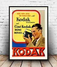 Kodak : Vintage photography advertising , Reproduction poster, Wall art.