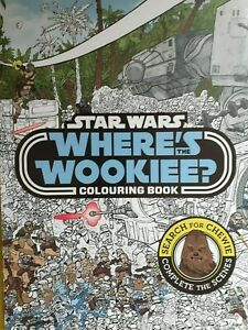 NEW  STAR WARS -  WHERE'S WOOKIE COLOURING book Search for Chewie
