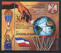Jugoslawien Block Nr. 54 postfrisch 3086 Basketball Weltmeisterschaft 2002 MNH