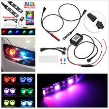 12V RGB Demon Devil Eyes LED Wireless App Control For Car Headlights Retrofit