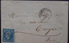 N°16/NAPOLÉON N°22 LETTRE  LANGES/TROYES 1865