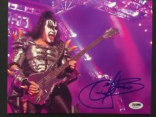 Gene Simmons KISS Signed Autograph PSA Photo 8 x 10