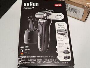 Braun Electric Razor for Men, Series 7 7075cc 360 Flex Head Electric Shaver