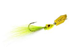 """Z-Man ChatterBait Bucktail 3/8 """"Chartreuse White"""""""