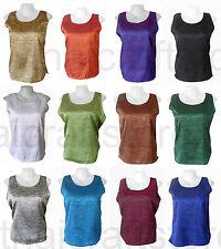 Blouse Collarless Sleeveless Tops & Shirts for Women