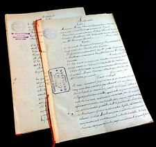 LOT OF TWO ANTIQUE DOCUMENTS 1888