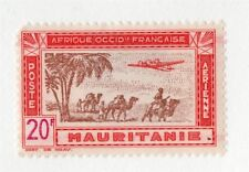 French Mauritania 1940s Air Mail Early Issue Fine Mint Hinged 20F. 229557