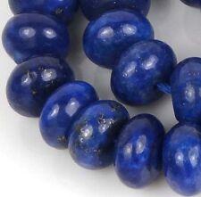 8x5mm natural Indigo Lapis Lazuli Rondelle Beads (36)