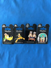 Chip & Dale Pluto Disney Pin Lot of 4 pins Set #308 New Cards