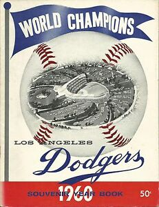 1960 Los Angeles Dodgers Team Yearbook Magazine w/ Sandy Koufax Don Drysdale HOF