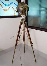 LARGE STUDIO SPOT SEARCH LIGHT WITH FLOOR LAMP, NAUTICAL MARINE TRIPOD LAMP