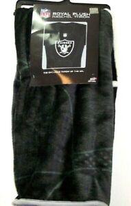 "NFL Oakland Raiders Royal Plush Raschel Throw Blanket Size 50"" X 60"""