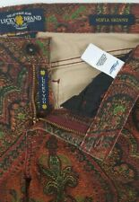 LUCKY BRAND Womens Sofia Skinny Jeans Abstract Fleur Des Lis Pattern Size 10/30