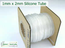Transparent Soft Silicone Rubber Tube Hose Pipe 1mm x 2mm sold by the meter