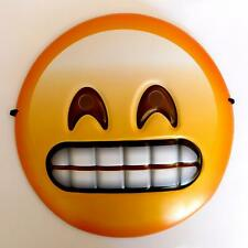 GRINNING TEETH GRIMACE EMOJI FACE MASK - SMILEY FANCY DRESS PHOTO BOOTH PROP